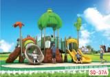 青島雙橋教育幼兒園室外兒童組合滑梯廠家