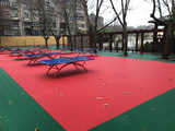 浩康懸浮式拼裝地板 室外專用拼裝地板 籃球排球地板 通風防滑地板
