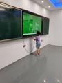 幼儿园多媒体触控一体机55寸65寸推拉绿板教育一体机带展示台