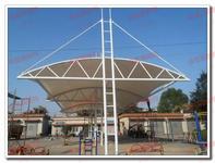 火车站站台雨蓬膜结构,汽车站站台雨蓬张拉膜