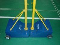 供应户外室内羽毛球场专用挂网凹凸式柱子
