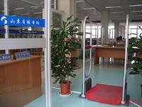 鴻泰安雙通道圖書防盜儀,電磁波圖書防盜磁條監測儀
