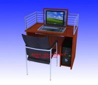 供應液晶防盜機箱 多媒體電腦桌 翻轉電腦桌