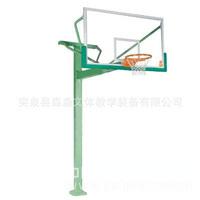 专业地埋式篮球架 优质独臂篮球架