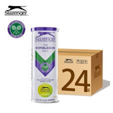 史莱辛格【Slazenger】340939网球 温网官方用球 训练比赛网球 铁罐三粒装 一箱24筒