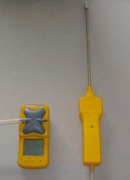 便携式氧气检测仪/外置泵吸式氧气测定仪 型号H24666