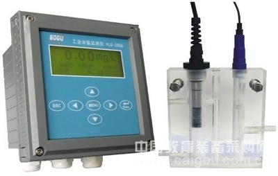 中文在线余氯分析仪/在线余氯、 HOCL、PH、温度检测仪 型号:BQ-YLG-2058