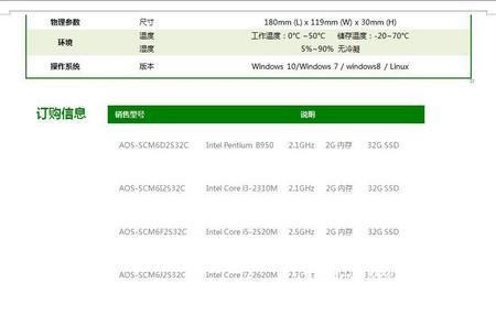 爱鑫微高性能云终端整机 因特尔 酷睿i3-2310M intel HM65