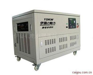 伊藤15KW全自动静音燃气汽油发电机