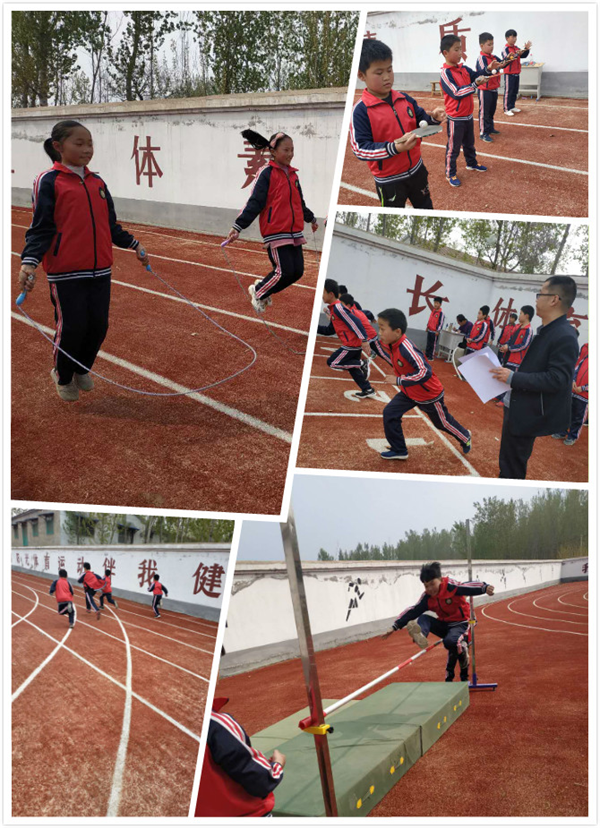 冠县清水镇汤村小学举行春季运动会