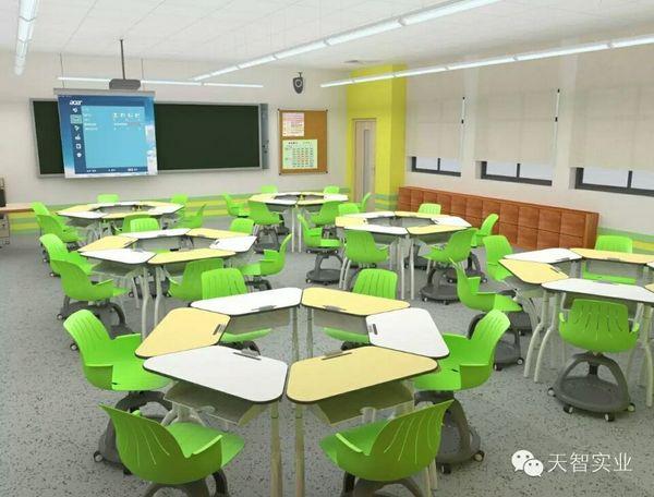 天智实业案例  广州市恒福中学未来教室