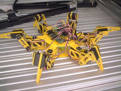 6足18自由度爬行机器人教学模型