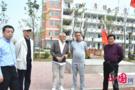 日本友人到菏泽郓城南城中学考察校园足球