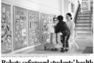 校园健康科技产品沃柯雷克晨检机器人,再次登上中国日报!