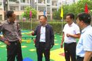 庐江县长调研城区幼儿园和阅读空间建设工作