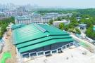 """全国最大高校体育场馆今年9月投入使用 武汉大学西门摊开一本""""巨..."""