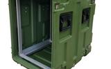 三军行滚塑防震机架箱 减震可移动机架箱
