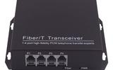 2路电话光端机 单纤FC接口 单多模通用 可添加1路百兆网口 桌面台式