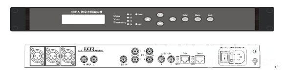 layer2音频编码   支持平衡和非平衡模拟音频输入,数字音频(aes/ebu)